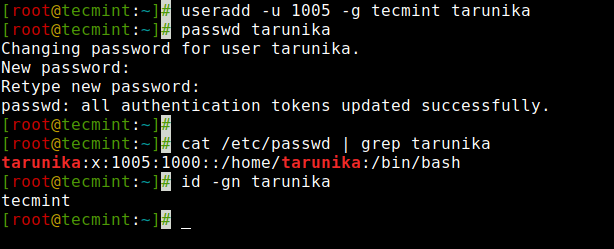 Create User with Group ID in Linux