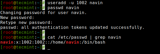 Create User with User ID in Linux