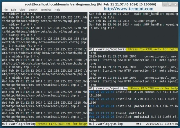 Install MultiTail in Linux