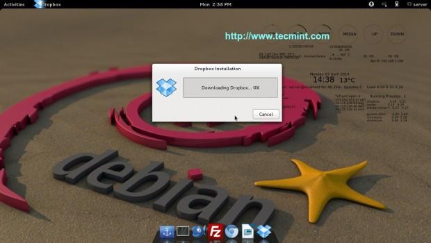 Downloading Dropbox