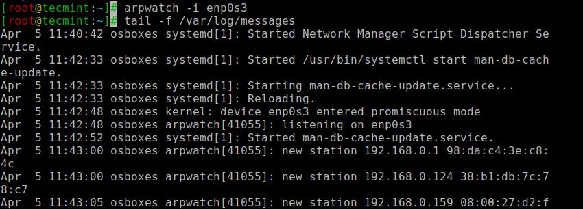 Arpwatch - Monitor ARP Traffic
