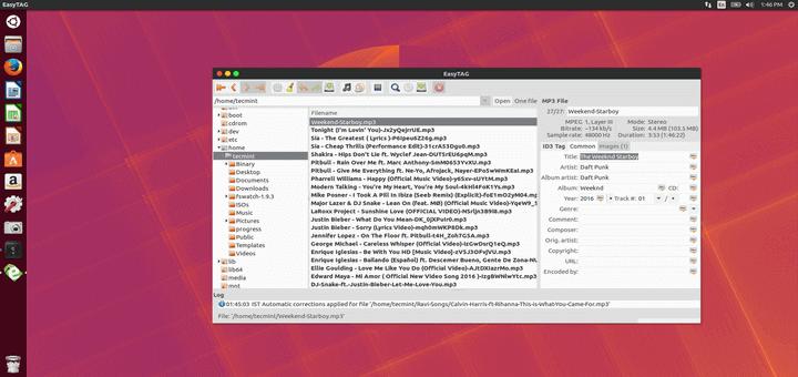 EasyTAG - MP3 Tag Information Editor
