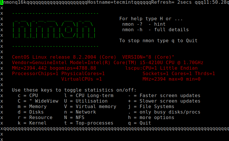 Nmon - Linux Performance Monitoring tool