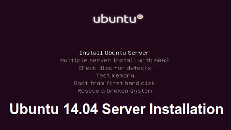 Ubuntu 14.04 Server Installation