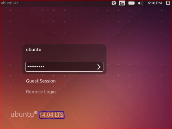 Ubuntu 14.04 Login Screen