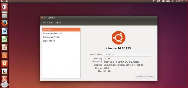 Ubuntu 14.04 Details