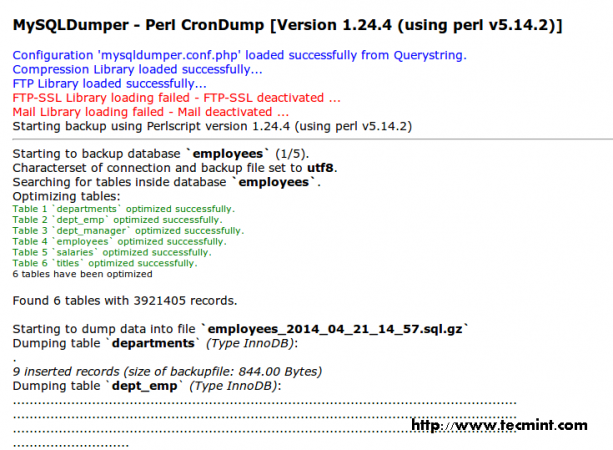 Perl CronDump Details