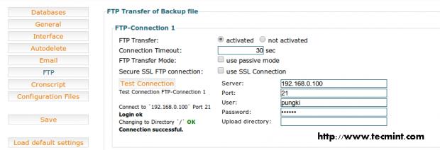 FTP Backup Transfer
