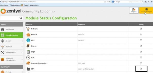 Module States Configuration