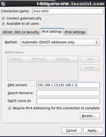 Enter Network Configuration