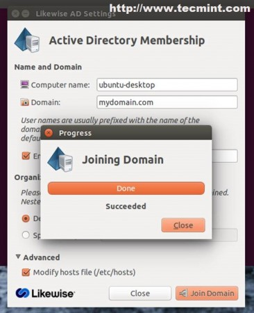 Joining Domain