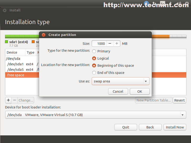 how to create xfs partition linux