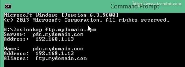 Verify FTP Alias