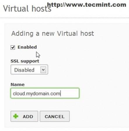 Add New Virtual Host