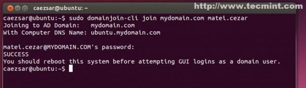 Join Ubuntu to Zentyal PDC