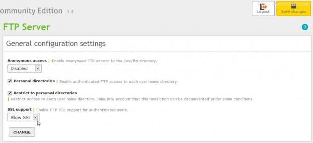FTP Configuration Settings