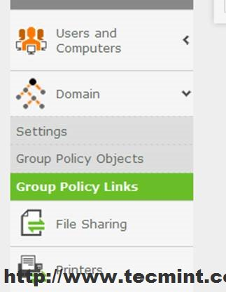 Group Policy Links