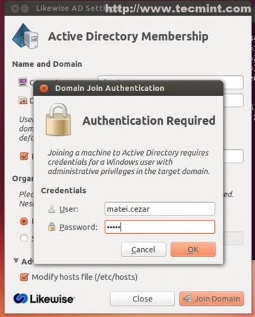 Domain Join Authentication