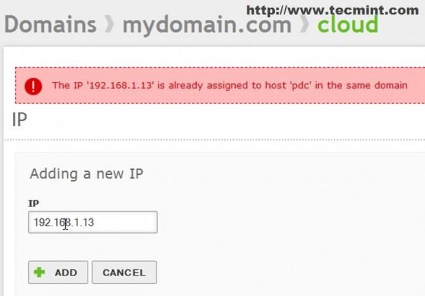 Add New IP Address