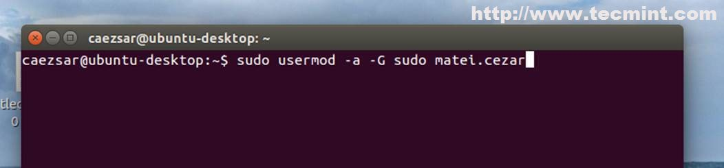 how to add sudo user from root