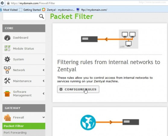 Configure Firewall Rules