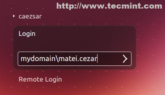 Ubuntu Login Screen