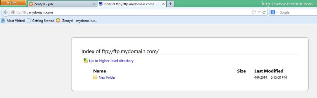 Installing FTP Server and Mapping FTP Directories in Zentyal