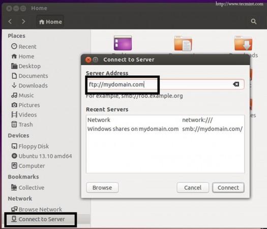 FTP Folder Mapping on Ubuntu