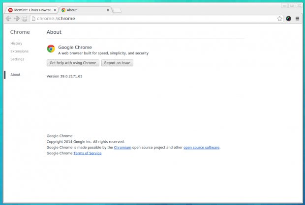 About Chrome Browser