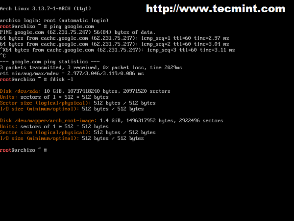 Arch Linux Bash Terminal