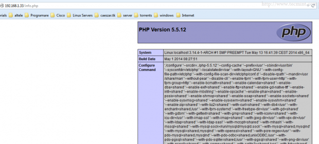 Verify FastCGI PHP Configurations