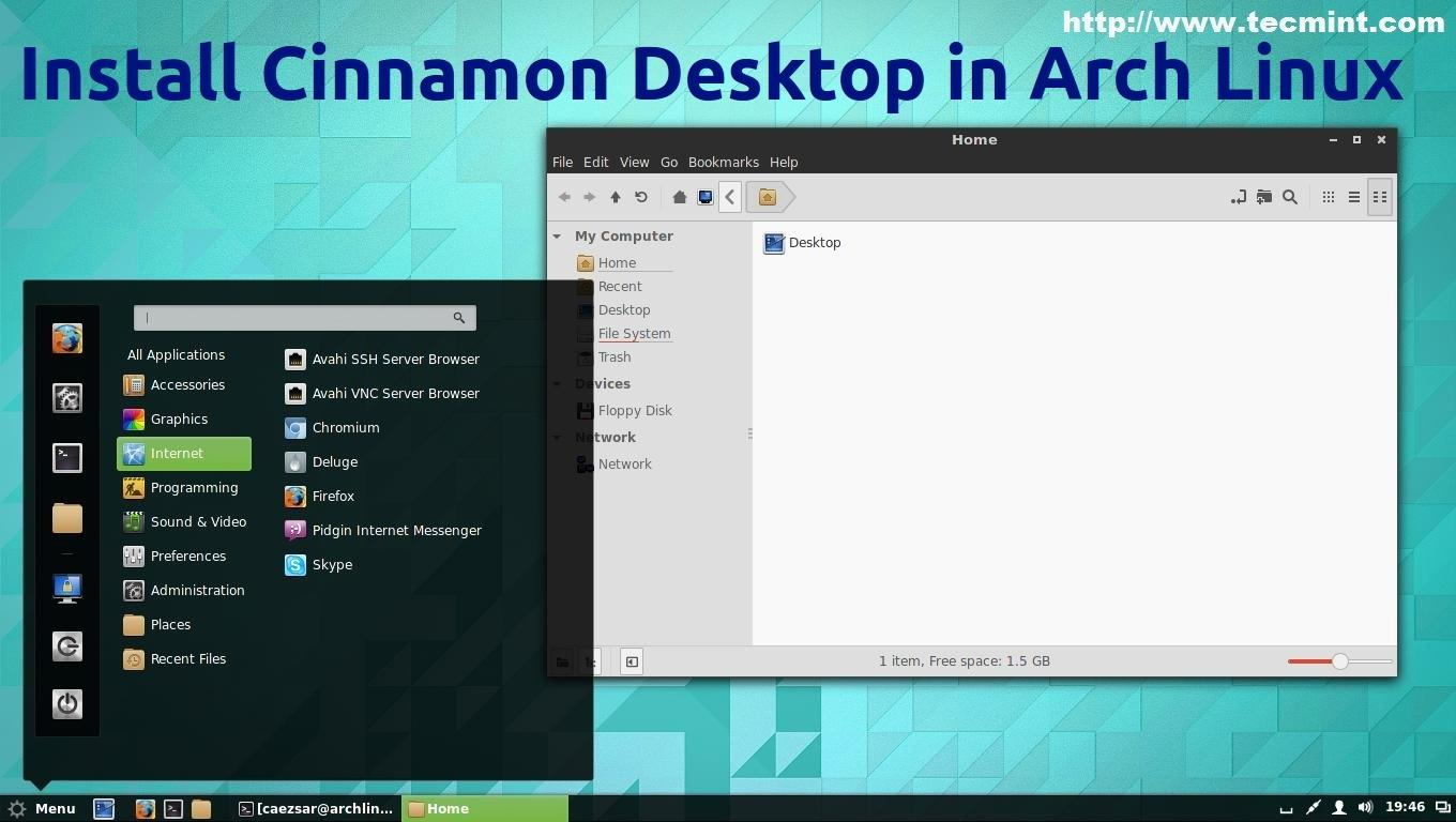 Installing GUI (Cinnamon Desktop) and Basic Softwares in
