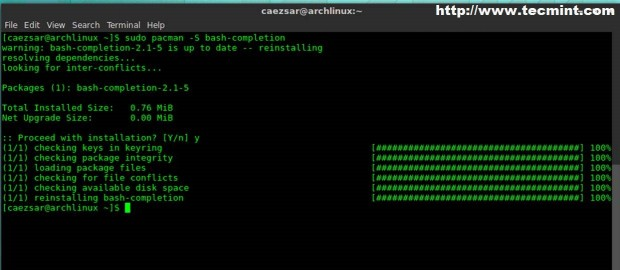 Install Bash Completion
