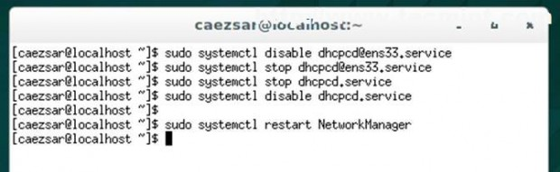 Disable dhcpd Service