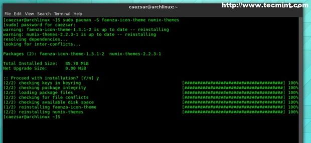 Install Faenza Icon Theme and Numix Theme