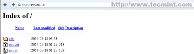 Browse Apache over SSL
