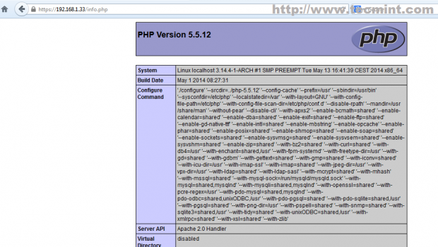 Verify PHP Information