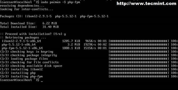 Install PHP in Arch Linux