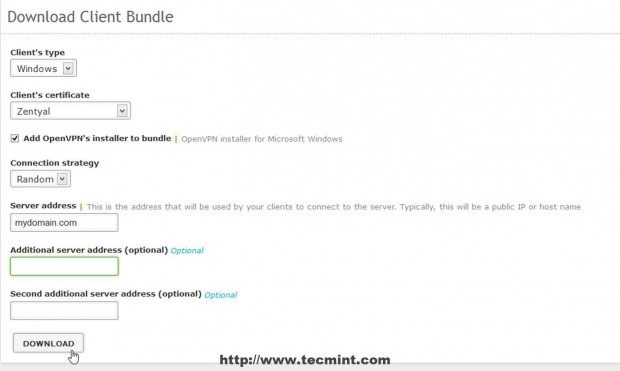 Configure Client Bundle for Windows