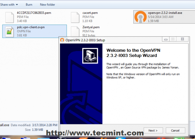 Install OpenVPN Client on Windows
