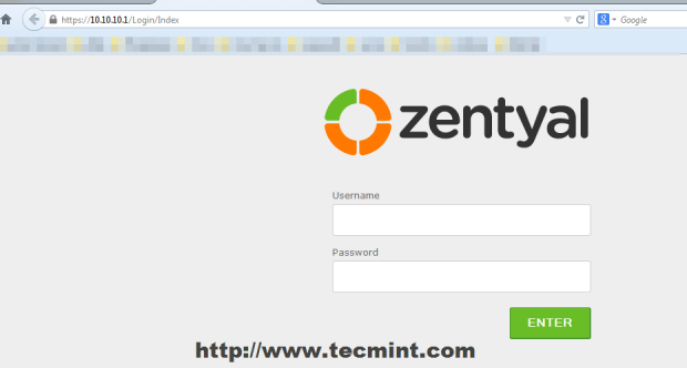 Login to Zentyal PDC Web