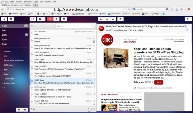 Install RainLoop in Arch Linux
