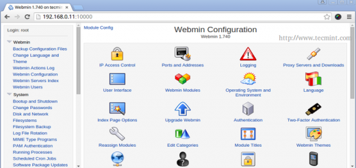 Install Webmin in Linux