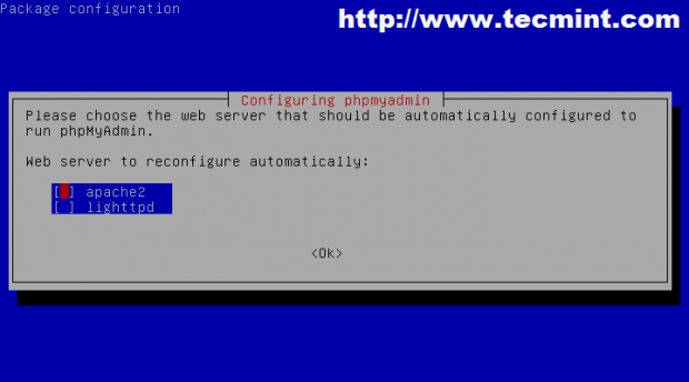 Configure Web Server for PhpMyAdmin