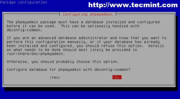 Configure Database for PhpMyAdmin