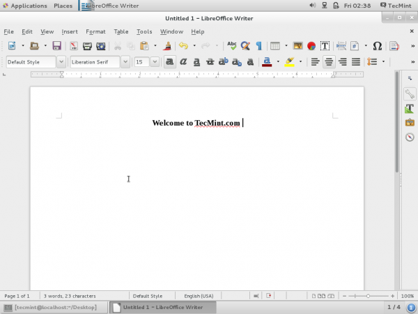 LibreOffice Writer Document
