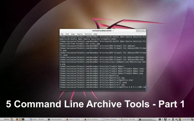 Linux Command Line Archive Tools