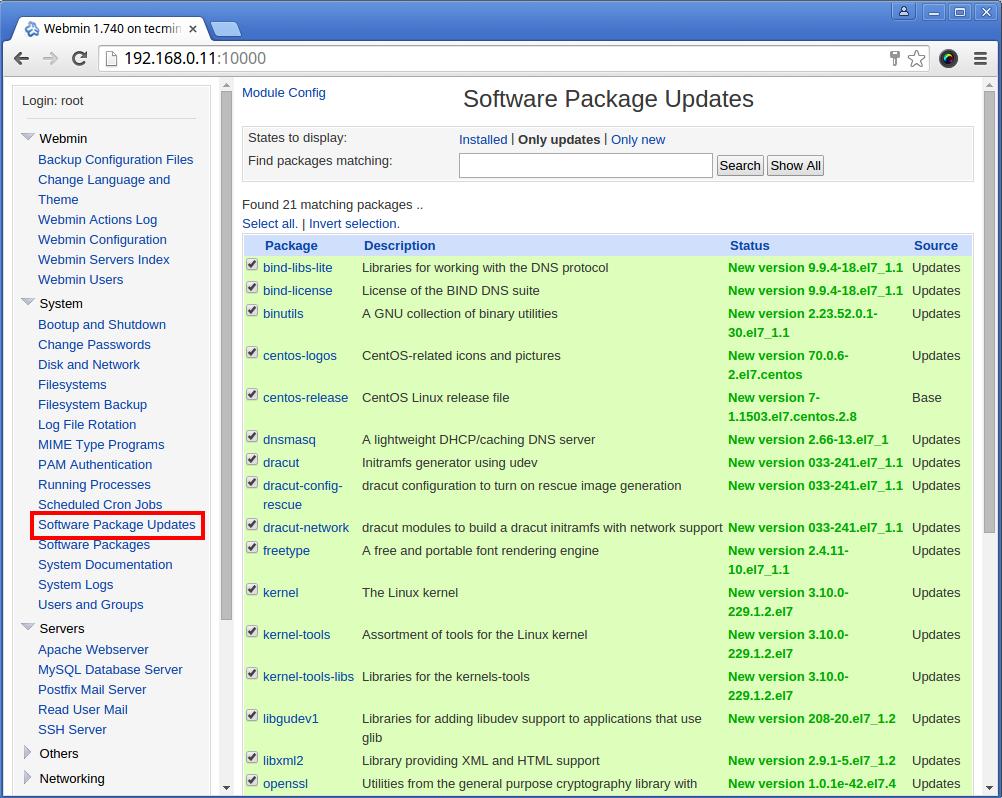 System Software Updates