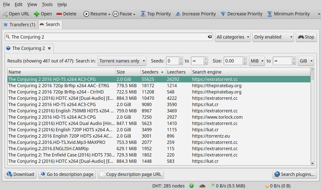 Search for Torrent Files Using qBittorrrent