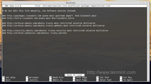 Add Linux Mint 17 Repository